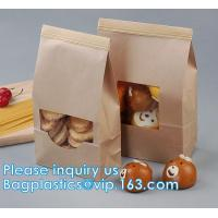 Buy cheap Tin tie tea pouch bag, coffee bean packaging stand up ziplock kraft paper tea paper bag with window Cookie choco pouch from wholesalers