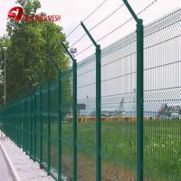 Buy cheap green colored curved wire mesh fence panel from wholesalers