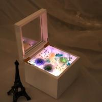 Buy cheap New Arrival DIY Preserved Rose Music Box Valanrines day Mothers Day Immortal Roses Led Light Gift Box from wholesalers