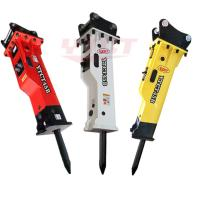 Quality 20 ton excavator top type hydraulic breaker with 1 inch hose for sale