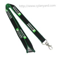 China Affordable simple imprinted logo polyester neck lanyards, China lanyard factory, MOQ300pcs on sale