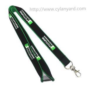 China Affordable simple imprinted logo polyester neck lanyards, China lanyard factory, MOQ300pcs on sale