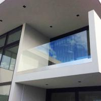 Wholesale Aluminum U channel base frameless glass railing for indoor and outdoor from china suppliers