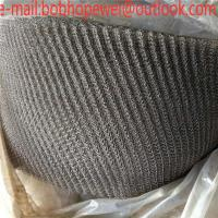 China Stainless Steel Knitted Gas Liquid Filter Wire Mesh For Oil Water Separation / Knitted Wire Mesh Gas Liquid Filter Oil D on sale