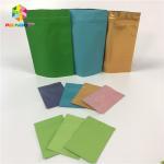 Buy cheap Food Grade Foil Pouch Packaging Flat Zip Lock Heat Seal Aluminum Foil Bags Reusable from wholesalers