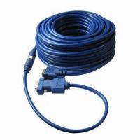 Buy cheap DVI to HDB15 Custom Cable, High-definition, 3 to 8mm Cable Outer Diameter, High-abrasion Resistance from wholesalers