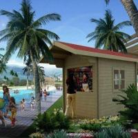 Buy cheap Kiosk Prefabricated Houses with Selling Booth Layout, Made of Wood from wholesalers