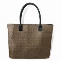 Buy cheap Handbag, Made of Jacquard and PVC Materials, with Main Zipper Compartment from wholesalers