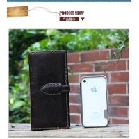 Buy cheap waxy leather long pattern wallets with coin pockets drop shipping from wholesalers
