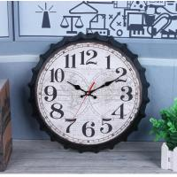 Buy cheap Creative Arabic Number Wall Clock Retro Bottle Cap Design Silent Clock With Customize Logo No Ticking Sound Wall Clock from wholesalers