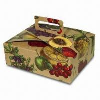 Buy cheap Cardboard Gift Box with Paper Handle, Decorative, Fruit Bowl Style, Sized 9 x 7 x 3 inches from wholesalers