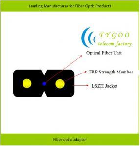 GJXFH/GJXH LSZH jacket drop cable 1/2/4 core single/multi mode FTTH optical fiber cab Manufactures