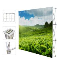 Wholesale Portable Trade Show Backdrop Stand Various Shapes Detachable Frame 250g Fabric from china suppliers