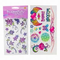 Buy cheap Tattoo, Glitter Tattoo, Glow in the Dark Tattoo, Temporary Tattoo, Water Tattoo, Body Tattoo from wholesalers