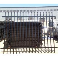 Buy cheap 2 Rails Top And Bottom Flush Upright Rails Powder Coated galvanised steel palisade fencing from wholesalers