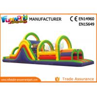 Wholesale 0.55 MM PVC Tarpaulin Inflatables Obstacle Course , Blow Up Trampoline from china suppliers