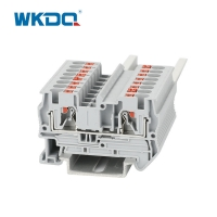 Buy cheap DIN Rail 4sqmm Spring Cage Clamp Push In Terminal Block from wholesalers