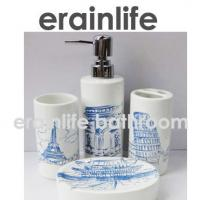 Wholesale ceramic bathroom accessories set from china suppliers
