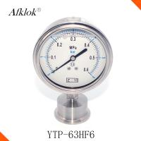 Buy cheap Sanitary Manometer Gas Pressure Gauge , Diaphragm Type Gas Grill Pressure Gauge from wholesalers