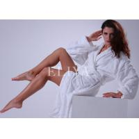 Buy cheap Cotton Velour Jacquard Luxury Hotel Bathrobes / Comfortable Hotel Dressing Gowns from wholesalers