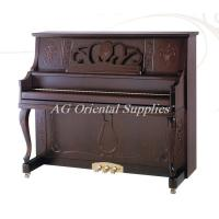 Wholesale 88-KEY  Acoustic wooden upright Piano import zebrawood matt red brown AG-131Y2 from china suppliers