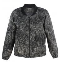 Buy cheap Grey Texture Ladies Short Coat , Plus Size Womens Winter Coats With Neck Rib And Zipper from wholesalers