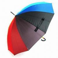 Buy cheap Umbrella with Beautiful Rainbow Circle on Crook Handle, Durable Shaft and Ribs Frame from wholesalers