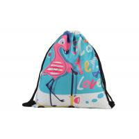Buy cheap Flamingo Personalized Cinch Bags , Custom Print Drawstring Bags With Logo from wholesalers
