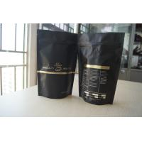 Buy cheap Matt Black Tea Bags Packaging Stand Up with Degassing Valve from wholesalers