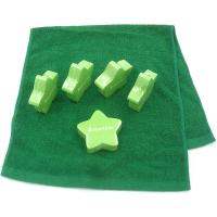Buy cheap Hygiene Compressed Terry Cotton Hotel Face Towel Lime Green Stars Pattern from wholesalers