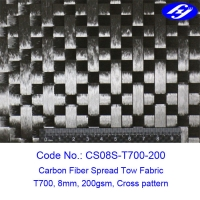 Buy cheap Toray 12K 200gsm Cross Spread Tow Carbon Fiber Fabric product