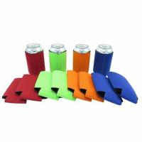 Wholesale Qualified promotional foldable beer sleeve neoprene beer Can Cooler Holder size:10cmc*13cm  Material is neoprene from china suppliers