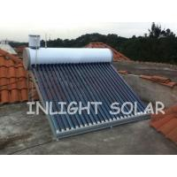 24 Tubes Color Steel Non Pressurized Solar Water Heater Vacuum Glass Tubes For Home Manufactures