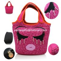 Wholesale Durable Cute Neoprene Shopping Bag Foldable With Embroidery Pattern For Kids from china suppliers