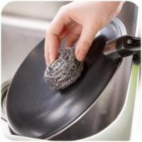 Buy cheap Antibacterial Stainless Steel Scouring Pad , Oil Removing Metal Dish Scrubber from wholesalers