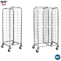 Buy cheap Stainless Steel  Wire Shelf Trolley Designed for Cake Trays With Two Brakes from wholesalers