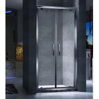 China Double Frameless Sliding Door Shower Enclosures Magnetic Strips Sealing on sale