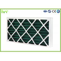 Wholesale G4 Pleated Replacement Air Filter 45Pa Initial Pressure Drop With Cardboard Frame from china suppliers
