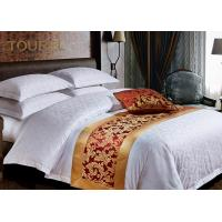 Buy cheap Hotel King Size Gold  Bed Runners For Hotels Comfortable Plain / Strip Type from wholesalers