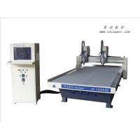 Buy cheap High precision ATC pneumatic double head with vacuum suck smart wood cnc router from wholesalers