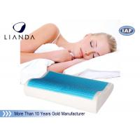 Buy cheap Wave shape Cooling gel memory foam pillow / adult king size cool gel pillow from wholesalers