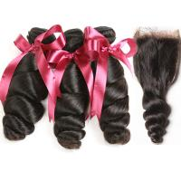 Buy cheap 12A Grade Peruvian Hair Weave Unprocessed Raw Loose Wave Virgin Hair Extension from wholesalers