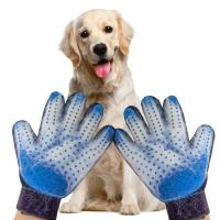Buy cheap Five Finger Pet Hair Remover Glove , Pet Grooming Glove Adjustable Comfort Fit from wholesalers