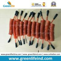 Buy cheap Plastic White Core Orange PU Coated Anti-Lost Coiled Leash Tethers from wholesalers