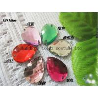Buy cheap Factory Directly Sale Sew on Crystal Beads Wedding Dress tear drop from wholesalers