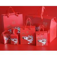 Wholesale Red Custom Printed Kraft Paper Bags / Custom Printed Gift Bags With Handle from china suppliers