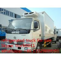 Buy cheap Dongfeng 4*2 LHD  small refrigerated van and truck for sale ,4ton CLW brand refrigerator van truck for meat and fish from wholesalers