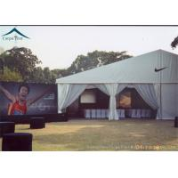 Buy cheap Customized Outdoor Sports Tents White PVC Roof And Grass Floor Flame Retardant from wholesalers