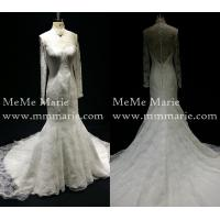 Buy cheap Classic Muslim High Collar Long Sleeve Mermaid Wedding Dress Bridal Gown with Open Back BYB-14560 from wholesalers