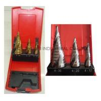 Wholesale 3PC Spiral Flute Step Drill Set from china suppliers